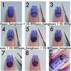 Lovely dream catch er nail art tutorial ! ♥ CR :  @filippa_bengtsson #nail #fashionlau... | Use Instagram online! Websta is the Best Instagram Web Viewer!