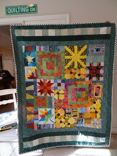Love Laugh Quilt: Orphan blocks make great quilts!