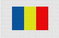 Flag of Chad Pixel Art