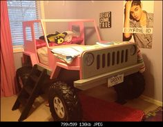 Jeep bed for the girls room - Kcrof on the WranglerForum is going to offer plans for 20 bucks.