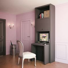 Inside Outside, Office Organization, Decoration, Corner Desk, Small Spaces, Coin Couture, Sweet Home, Html, Organize
