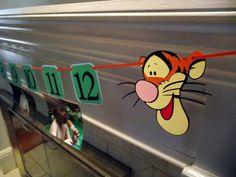 First Birthday Photo Banner- Winnie the Pooh & Tigger, I am 1, picture banner, disney, tigger, birthday decoration, first birthday, POOH,. $22.00, via Etsy.