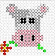 Kralenplank Koeienkop Pixel Beads, Create And Craft, Lego, Bead Crafts, Perler Beads, Beading Patterns, Pixel Art, Paper Flowers, Activities For Kids