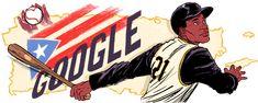 Celebrating Roberto Clemente Roberto Clemente, Baseball Star, Baseball Players, 1971 World Series, Pr Flag, Hispanic Heritage Month, Google Doodles, Pittsburgh Pirates, National League