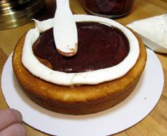 frosting a filled cake