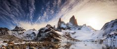 """Intestinal Fortitude - <a href=""""https://instagram.com/timothypoulton"""">Follow me on Instagram</a>  I've been holding this one back for my last panoramic from Patagonia and this time it's from Laguna De los Tres Mt Fitz Roy Argentina.   After a big hike from Cerro Torre I was the only one that would push on for sunset at this location after everyone had heard stories from other hikers that the trail up was covered in ice and treacherous. Knowing the tour was coming to an end I wanted to…"""
