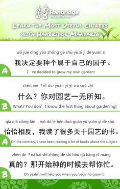 Learn Daily Chinese Phrases With Us Do You Like Gardening With