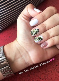 Great Classy Short Nails Art Designs Great ready to book your next manicure, because this Love Nails, Fun Nails, Manicure E Pedicure, Manicure Ideas, Gelish Nails, Perfect Nails, White Nails, Short Nails, Trendy Nails