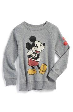 Peek 'Disney - Mickey Mouse' Graphic Crewneck Sweatshirt (Toddler Boys, Little Boys & Big Boys) available at #Nordstrom
