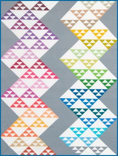 North & South quilt. It's Fat Quarter Friendly! Check out this FREE pattern through Robert Kaufman Fabrics!