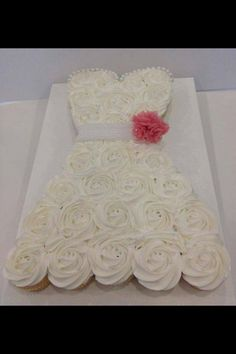 Bridal cupcake dress