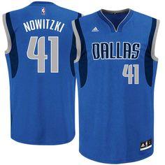 Dirk Nowitzki Dallas Mavericks adidas Replica Road Jersey - Royal Blue - $69.99