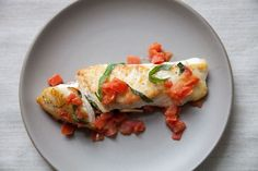Halibut with Basil, Garlic and Tomatoes on Food52