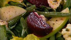 Beet and Marinated Goat Cheese Salad