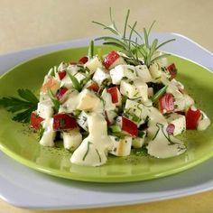 Egy finom Zöldfűszeres-almás sajtsaláta ebédre vagy vacsorára? Zöldfűszeres-almás sajtsaláta Receptek a Mindmegette.hu Recept gyűjteményében!