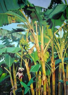 Banana Tree Painting  - Banana Tree Fine Art Print