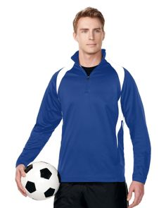 Mens Polyester micro Fleece 1/4 zip pull over.  Tri mountain F7351