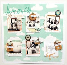 Discover Summer - Two Peas in a Bucket - love, love, love the idea of using tags as photo mats.