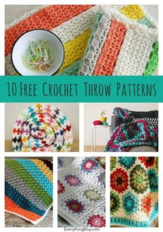 10 Free Crochet Thro