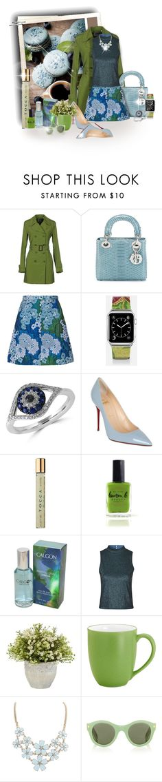 """:)Teal, Green & Blue"" by maison-de-forgeron ❤ liked on Polyvore featuring Aspesi, Christian Dior, Carven, Casetify, Effy Jewelry, Christian Louboutin, Tocca, Lauren B. Beauty, Topshop and Nearly Natural"