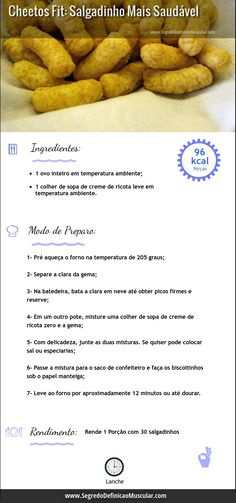 Receita de Cheetos Fit