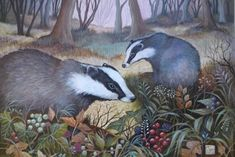 Into the woods - Jemima Jameson: gallery British Wildlife, Wildlife Art, Woodland Creatures, Woodland Animals, Street Art, Pagan Art, Wow Art, Animal Paintings, Illustrations Posters