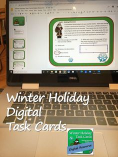 Holiday Task Cards Digital Resource for Google Slides – fictional and informational passages on 30 cards with topics including Christmas, Hanukkah, Kwanzaa, New Years, Chinese New Year, and winter, and lots of reading skills. Both the digital resource and a PDF version are included. For middle school and upper elementary grades. Close Reading Activities, Teaching Reading, Christmas Language Arts, Context Clues, Christmas Hanukkah, Kwanzaa, Reading Skills, Upper Elementary, Task Cards