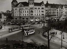 Auguste-Viktoria-Platz mit Blick auf das Romanische Café, rechts die Tauentzienstraße © bpk, um 1930