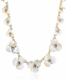 "Kate Spade New York ""Disco Pansy Single Strand Short Necklace, Short Necklace, Pearl Necklace, Jewelry Design, Designer Jewelry, Everyday Items, Pansies, Affair, Color Pop, Kate Spade"