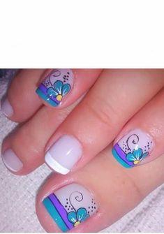 Pink Glitter Nails, Pink Ombre Nails, Rose Gold Nails, Pink Nails, Pedicure Nail Art, Toe Nail Art, Nail Nail, Almond Nails Red, Nail Art Designs