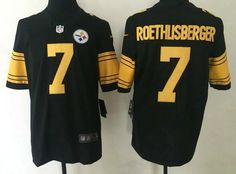 2016 Men s Pittsburgh Steelers  7 Roethlisberger Color Rush Limited Jersey  Nhl Jerseys b95018716
