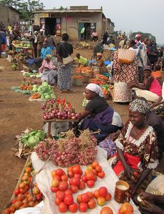 An ordinary ady at Rwaihamba Market, Uganda
