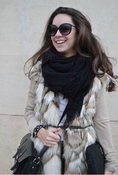 Chaleco de pelo sintético : Street style Outfit: MartaBarcelonaStyle's Blog