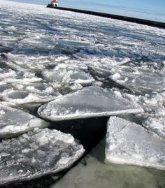 """""""Yes, Lake Superior freezes. Many people are surprised to find this out, but in the winter the lake does partially freeze over and the harbor is closed. This photo was taken at the Canal Park entrance to the harbor, Duluth, Minn., in February 2010."""" (Courtesy megstanton/myBudgetTravel)"""