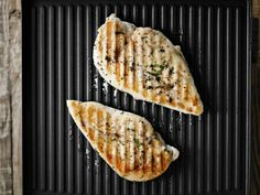 How to grill chicken on a panini press... big hint, if you're not marinating it, brush it with oil to keep it from sticking!