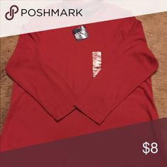 NWT Basic Editions Red LS Mock Turtleneck Top 2X New with tags Basic Editions women's plus size 2X red mock turtleneck top has long sleeves. Made in Lesotho of 100% cotton. Basic Editions Tops