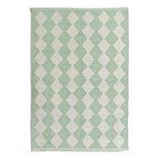 Baumwollteppich Diamond Blasses Grün