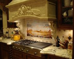 Delicieux Italian Style Kitchen And Mural Backsplash! Tuscany Kitchen, Mediterranean  Kitchen, Mediterranean Style,
