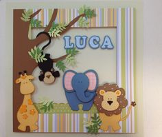 Quadro para decoração de quarto de bebê e/ou porta de maternidade, personalizado com o nome do bebê. As cores poderão variar de acordo com a escolha do cliente e ou disponibilidade dos papéis.
