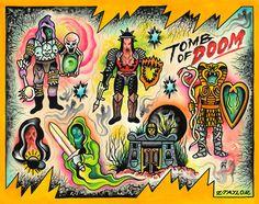 Supernaturals - OG • Zach Taylor • Children of the 80's exhibit at Guzu Gallery