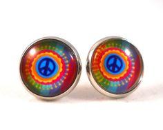 Gift Ideas for Tween Girls Peace Sign Earrings Tie Dye Peace Sign Jewelry