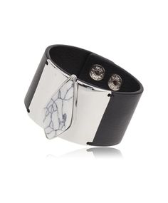 Gina Tricot - Leather Look Howlite Cuff