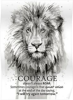 Shop for lion art from the world's greatest living artists. All lion artwork ships within 48 hours and includes a money-back guarantee. Choose your favorite lion designs and purchase them as wall art, home decor, phone cases, tote bags, and more! Watercolor Paintings Of Animals, Lion Painting, Watercolor Lion, Watercolor Paper, Black And White Lion, Lion Wall Art, Animal Art Prints, Courage Quotes, Lion Print