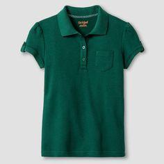 Girls' Interlock Polo Shirt - Cat & Jack