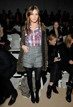 Front row at Ports 1961 (Fall 2010) fashion show.