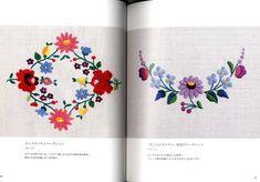 Kawaii Hungarian Embroidery Japanese Craft Book by Chain Stitch Embroidery, Learn Embroidery, Embroidery Stitches, Sashiko Embroidery, Floral Embroidery, Embroidery Books, Beginner Embroidery, Embroidery Jewelry, Modern Embroidery