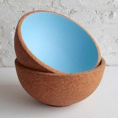 Praia Bowl Sky Blue blue, brown, serve
