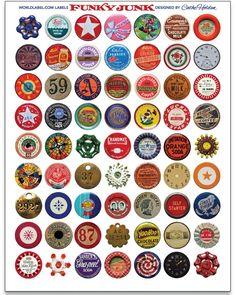 funky Junk round vintage labels free printables