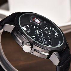 XINEW Dual Core Big Dial Clock Waterproof Military Watches Quartz Sport Wrist Watches for Men online - NewChic