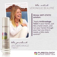 Winter tip for staticy hair from PureArtist Veronique Beaupré. #Pureolopgy #Hairtip